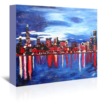 Americanflat 'Chicago 1' by M Bleichner Art Print Wrapped on Canvas