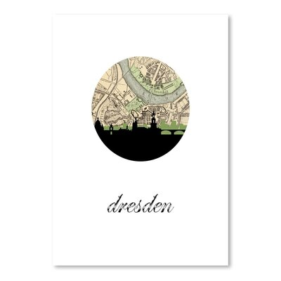 Americanflat 'Dresden Map Skyline' by PaperFinch Graphic Art