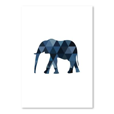 Americanflat 'Elephant Up To' by Melinda Wood Graphic Art Wrapped on Canvas