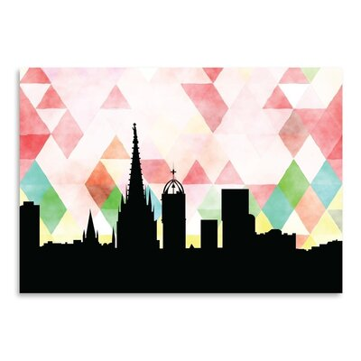 Americanflat 'Barcelona Triangle' by Paper Finch Graphic Art