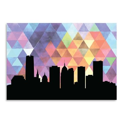 Americanflat 'OklahomaCity_Triangle' by PaperFinch Graphic Art