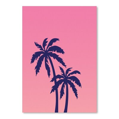 Americanflat 'Palm Tree on Pink' by Ashlee Rae Graphic Art