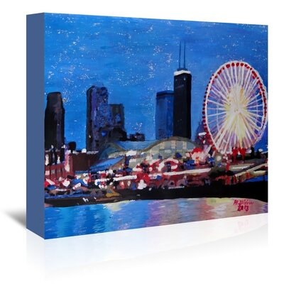 Americanflat 'Chicago Wheel' by M Bleichner Art Print Wrapped on Canvas