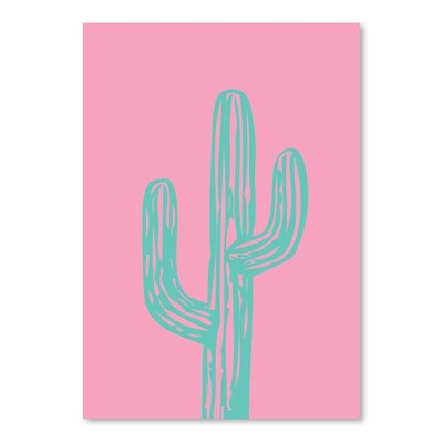 Americanflat 'Teal Cactus' by Ashlee Rae Graphic Art