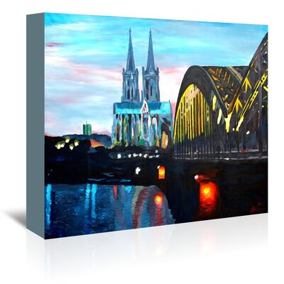 Americanflat Cologne - Kolner Dom mit Hohenzollernbrucke' by Markus Bleichner Art Print Wrapped on Canvas