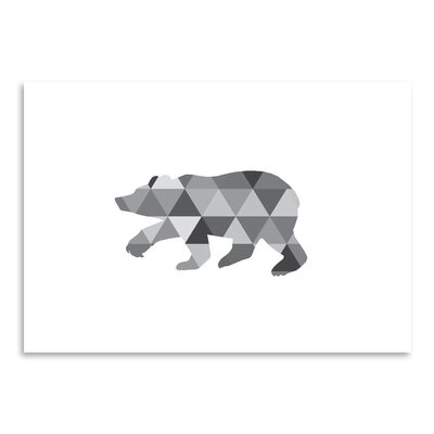 Americanflat 'Geometric Grey Bear Up To' by Melinda Wood Graphic Art