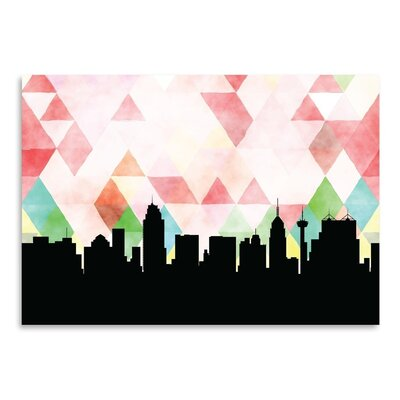 Americanflat 'SanAntonio_Triangle' by PaperFinch Graphic Art