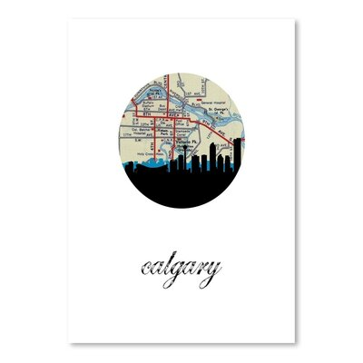 Americanflat 'Calgary Map Skyline' by Paper Finch Graphic Art