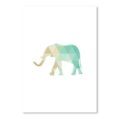 Americanflat 'Mint Gold Elephant Up To' by Melinda Wood Graphic Art
