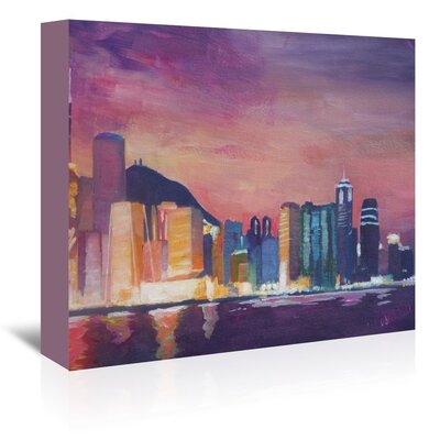 Americanflat 'Hongkong Night' by M Bleichner Art Print Wrapped on Canvas