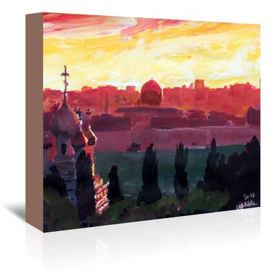 Americanflat 'Jerusalem2' by M Bleichner Art Print Wrapped on Canvas
