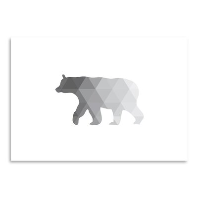 Americanflat 'Grey Geometric Bear Up To' by Melinda Wood Graphic Art