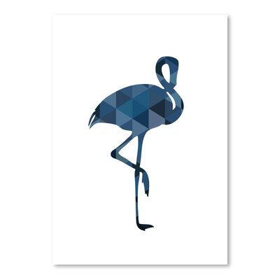 Americanflat 'Navy Flamingo Up To' by Melinda Wood Graphic Art