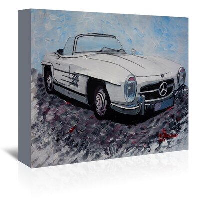 Americanflat 'Mercedes Cabrio' by M Bleichner Art Print Wrapped on Canvas