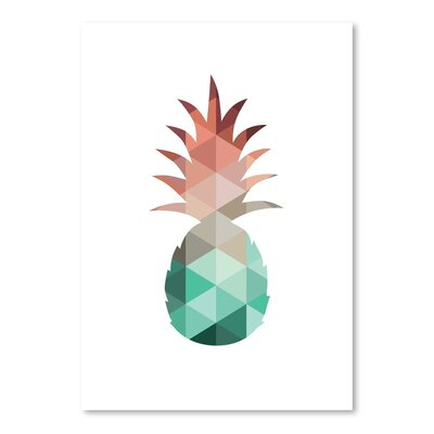 Americanflat 'Mint Coral Pineapple Up To' by Melinda Wood Graphic Art