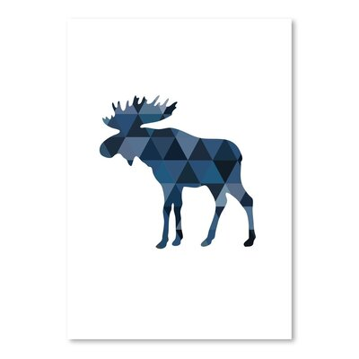 Americanflat 'Moose Up To' by Melinda Wood Graphic Art