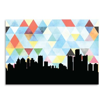 Americanflat 'Detroit Triangle' by PaperFinch Graphic Art