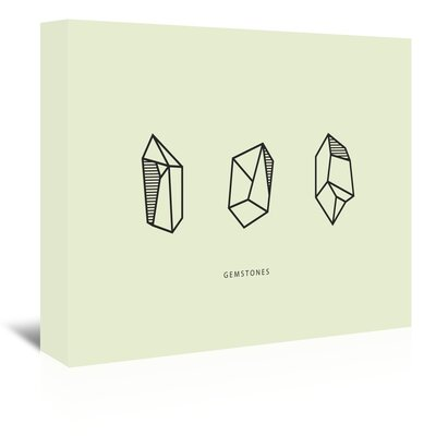Americanflat 'Gems X3' by The Glass Mountain Graphic Art Wrapped on Canvas