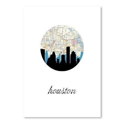 Americanflat 'Houston Map Skyline' by PaperFinch Graphic Art