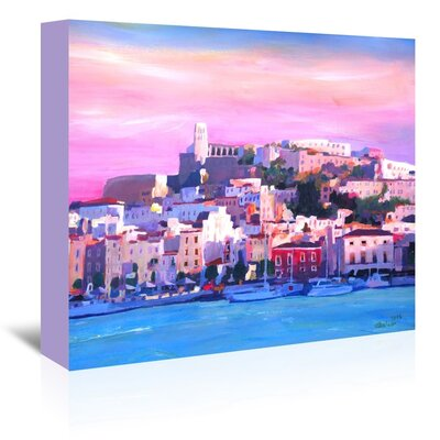 Americanflat Ibiza Old Town And Harbour Pearl Of The Mediterranean' by Markus Bleichner Art Print Wrapped on Canvas