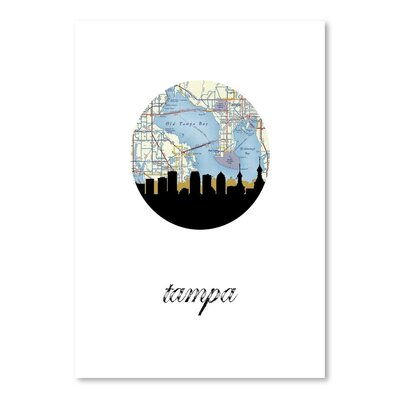 Americanflat 'Tampa Map Skyline' by PaperFinch Graphic Art