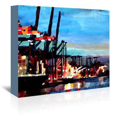 Americanflat Hamburghafen' by Markus Bleichner Art Print Wrapped on Canvas