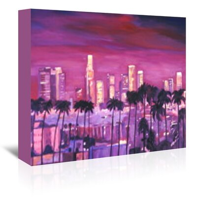 Americanflat 'Los Angeles Golden Skyline l' by M Bleichner Art Print Wrapped on Canvas