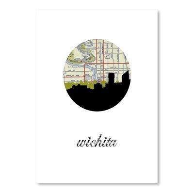 Americanflat 'Wichita Map Skyline' by PaperFinch Graphic Art