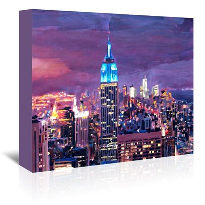 Americanflat New York City - Empire State Building Feeling Like A Giant' by Markus Bleichner Art Print Wrapped on Canvas