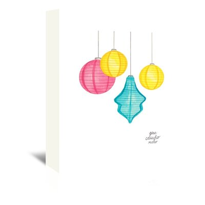 Americanflat 'Paper Lanterns' by Gina Maher Art Print Wrapped on Canvas