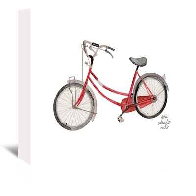 Americanflat 'Bicycle' by Gina Maher Art Print Wrapped on Canvas