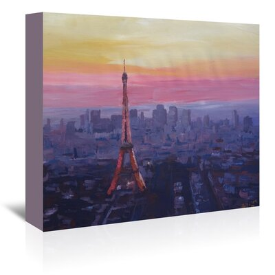 Americanflat 'Paris Eiffel At Dusk' by M Bleichner Art Print Wrapped on Canvas