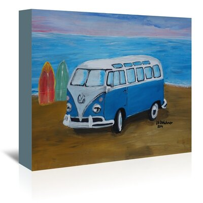 Americanflat 'Surfbus With Surf Boards' by M Bleichner Art Print Wrapped on Canvas