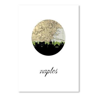 Americanflat 'Naples Map Skyline' by PaperFinch Graphic Art