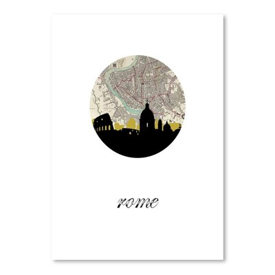 Americanflat 'Rome Map SKyline' by PaperFinch Graphic Art