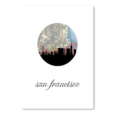 Americanflat 'San Fran Map Skyline' by PaperFinch Graphic Art