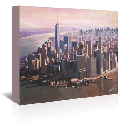 Americanflat 'Manhattan Freedom' by M Bleichner Art Print Wrapped on Canvas