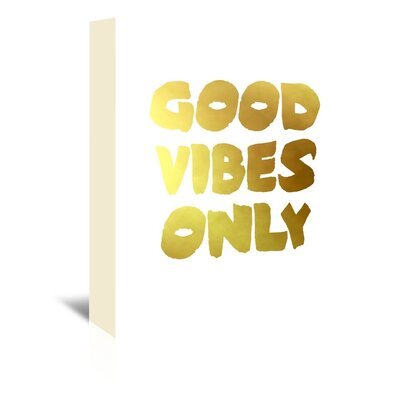 Americanflat 'Vibes1' by Ikonolexi Typography Wrapped on Canvas