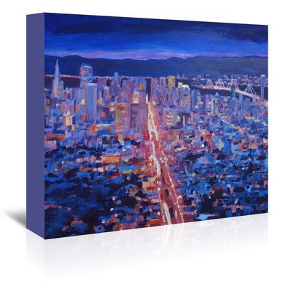 Americanflat 'San Francisco Market Street' by M Bleichner Art Print Wrapped on Canvas