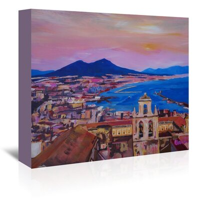 Americanflat 'City Of Naples Italy With Mount Vesuvio And GulfNew' by M Bleichner Art Print Wrapped on Canvas