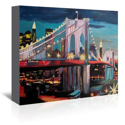 Americanflat 'Nyc Bridge3' by M Bleichner Art Print Wrapped on Canvas