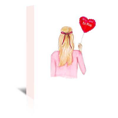 Americanflat 'Be Mine Balloon' by Alison B Art Print Wrapped on Canvas