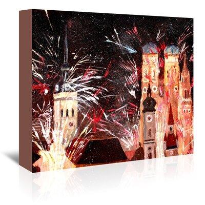 Americanflat 'Munchen Silvester Feuerwerk' by M Bleichner Graphic Art Wrapped on Canvas