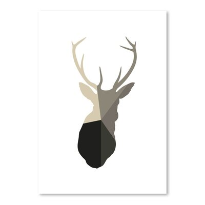 Americanflat 'Deer Head Up To' by Melinda Wood Graphic Art