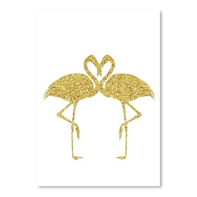 Americanflat 'Gold Flamingos' by Peach & Gold Graphic Art