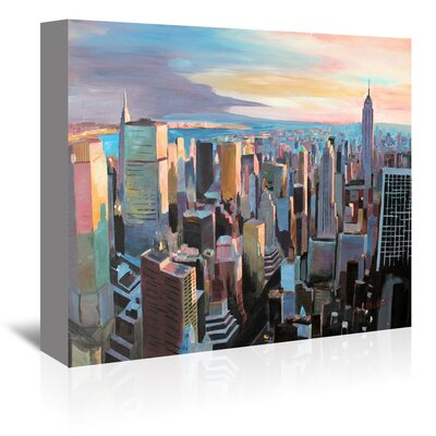 Americanflat Nyc Sunlght2' by Markus Bleichner Art Print Wrapped on Canvas