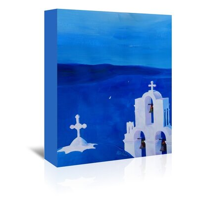 Americanflat 'Enchanting Santorini Greece View' by M Bleichner Art Print Wrapped on Canvas