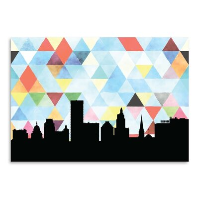 Americanflat 'Providence_Triangle' by PaperFinch Graphic Art