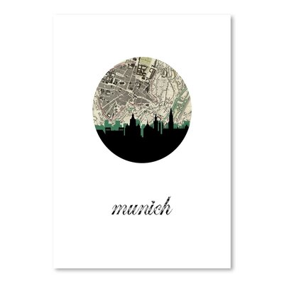 Americanflat 'Munich Map Skyline' by PaperFinch Graphic Art