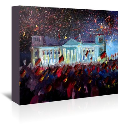 Americanflat 'German Reunification Festivities Berlin Reichstag' by M Bleichner Art Print Wrapped on Canvas